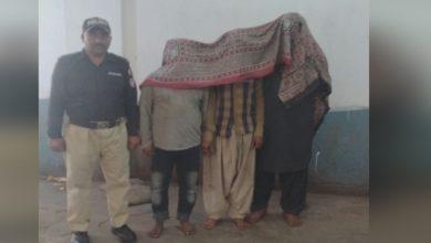 Photo of گھروں میں ڈکیتیاں کرنےوالا 3رکنی گروہ گرفتار کرلیا
